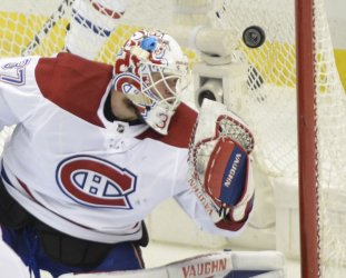 Canadiens Goaltender Antti Niemi  in Pittsburgh
