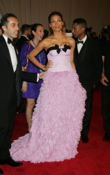 Rosario Dawson arrives for the Metropolitan Museum of Art's Costume Institute Gala in New York