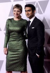Emily V. Gordon and Kumail Nanjiani attend the Oscar nominees luncheon in Beverly Hills