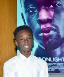 Alex Hibbert attends Los Angeles premiere of 'Moonlight'