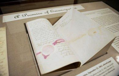 National Archives displays Preliminary Emancipation Proclamation in Washington