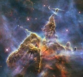 The Hubble Space Telescope Captures Carina Nebula's 'Mystic Mountain'
