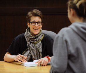 "Rachel Maddow signs copies of her new book ""Drift"" in Los Angeles"