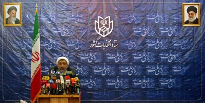 Iran's Interior Minister Mostafa Pourmohammadi holds a press conference in Tehran