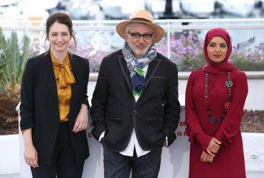 Hanaa Issa, Elia Suleiman and Fatma Hassan Al Remaihi attend the Cannes Film Festival
