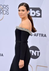 Mandy Moore attends the SAG Awards in Los Angeles