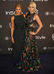 Sofia Richie and Paris Jackson attend the InStyle and Warner Bros. Golden Globe after-party in Beverly Hills