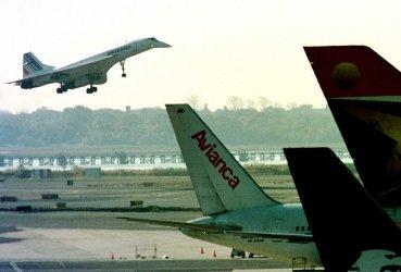 Concorde Lands at JFK Airport