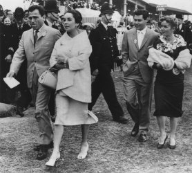 A 1957 photo of Mike Todd with his wife actress Elizabeth Taylor