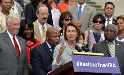 Democratic leaders gather at US Capitol to commemorate the 50th anniversary of the Civil Rights Act