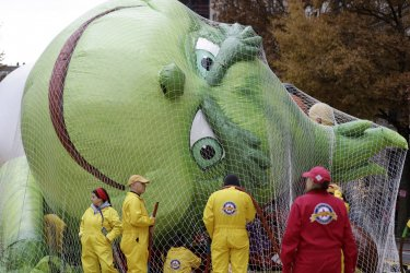 Preparations for the 93rd Macy's Thanksgiving Day Parade
