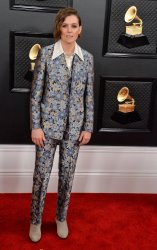 Brandi Carlile arrives for the 62nd annual Grammy Awards in Los Angeles