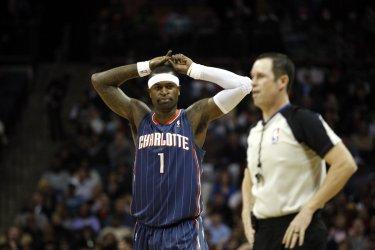 Charlotte Bobcats guard Stephen Jackson against the Miami Heat