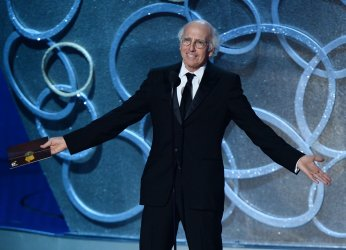 Larry David onstage at the 68th Primetime Emmy Awards in Los Angeles