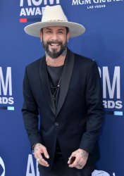 AJ McLean attends the Academy of Country Music Awards in Las Vegas