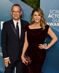 Tom Hanks and Rita Wilson attend the 26th annual SAG Awards in Los Angeles