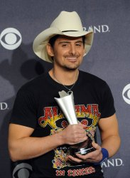 Brad Paisley garners award for male vocalist of the year at the 46th annual Country Music Awards in Las Vegas