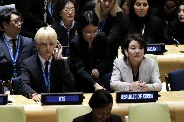 Korean K-Pop group BTS at the United Nations
