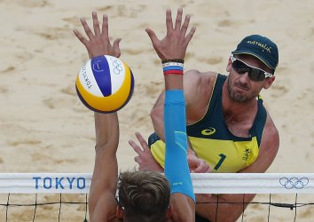 Beach Volleyball Preliminary Match at Tokyo Olympics