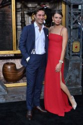 """Arty Froushan and Flora Ogilvy attend the """"Carnival Row"""" premiere in Los Angeles"""