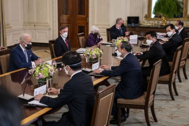 President Biden meets with Japanese PM Suga at the White Hose