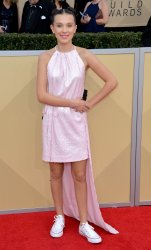 Millie Bobby Brown attends the 24th annual SAG Awards in Los Angeles