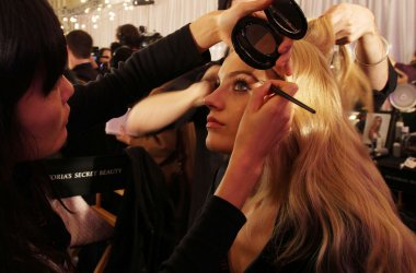Models Backstage at the Victoria's Secret Fashion show in New York