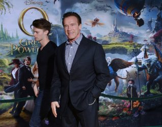 "Arnold Schwarzenegger and son Patrick attend ""Oz The Great and Powerful"" premiere in Los Angeles"