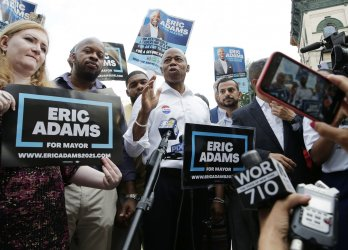 Mayoral Candidate Eric Adams Votes in New York