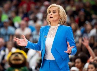 Baylor's Kim Mulkey in the NCAA Women's Basketball Championship