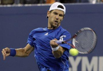 Jurgen Melzer at the U.S. Open Tennis Championships in New York