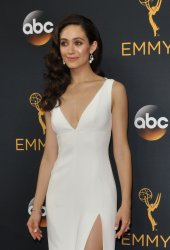 Emmy Rossum attends the 68th Primetime Emmy Awards in Los Angeles