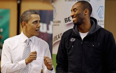 Obama And LA Lakers Visit Boys And Girls Club In DC