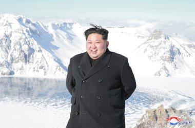 North Korean Leader Kim Jong Un Climbs Mount Paektu
