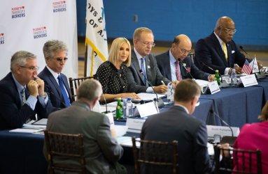Ivanka Trump leads a American Workforce Policy Advisory Board Meeting