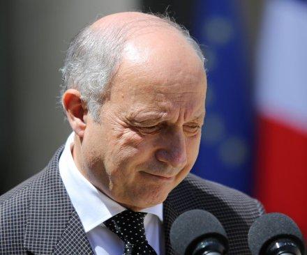 French Foreign Minister Laurent Fabius announces resignation