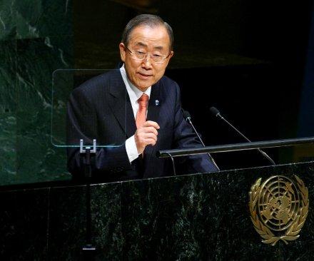 U.N.'s Ban Ki-moon calls for peaceful resolution to Hong Kong protests