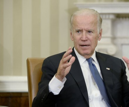 Biden teases 2020 White House run after Senate vote on health bill