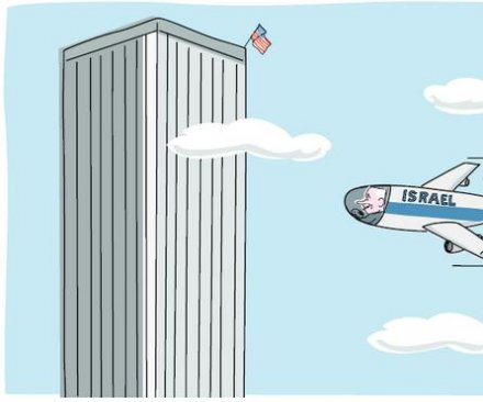Controversial cartoon depicts Netanyahu as 9/11 pilot