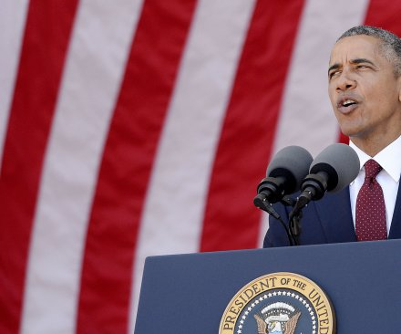 Obama notes Afghanistan milestone in Memorial Day address