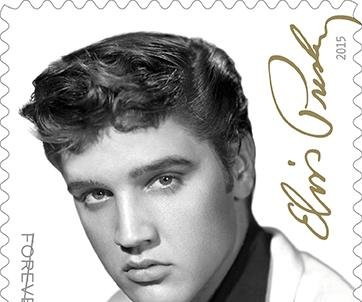 New Elvis stamp features a more toned-down King of Rock 'n' Roll