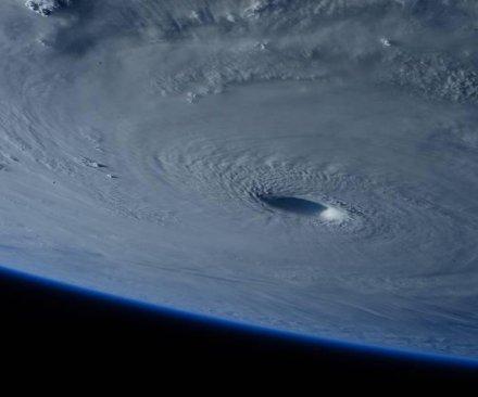 Typhoon Maysak seen from International Space Station