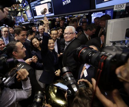 Chinese e-commerce giant Alibaba begins trading on NYSE