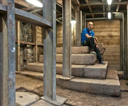 2,000-year-old podium found near Jerusalem's Temple Mount