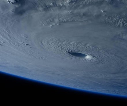Typhoon Maysak seen from International Space Station