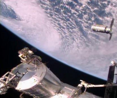International Space Station grabs cargo craft