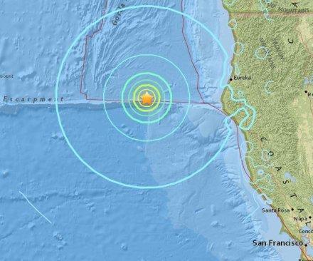6.5-magnitude earthquake strikes Northern California coast