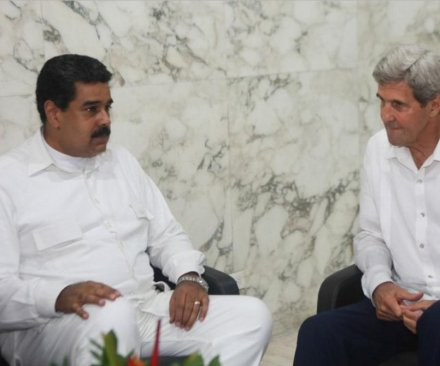 John Kerry 'deeply concerned' about crisis in Venezuela; meets with Nicolas Maduro