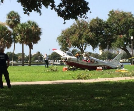 Plane crash in Vinoy Park narrowly misses St. Pete condos