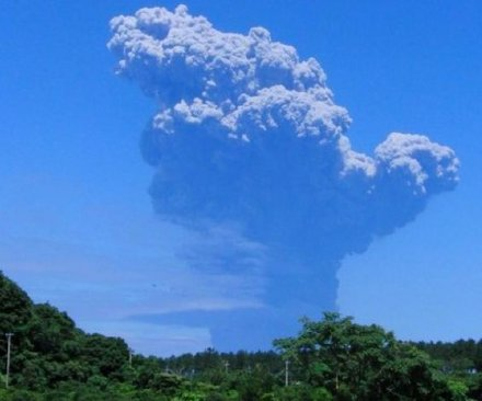 Volcano erupts in southern Japan as over 100 evacuated